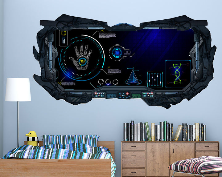 Science Gaming Boys Bedroom Decal Vinyl Wall Sticker R144