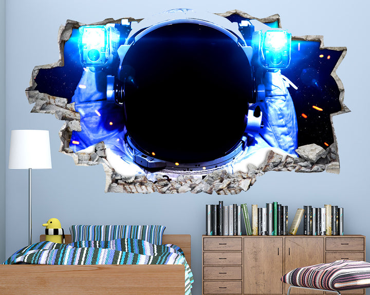 Close Up Astronaut Boys Bedroom Decal Vinyl Wall Sticker R145