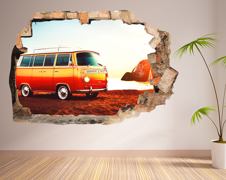 Van Coast Beach Hall Decal Vinyl Wall Sticker R159