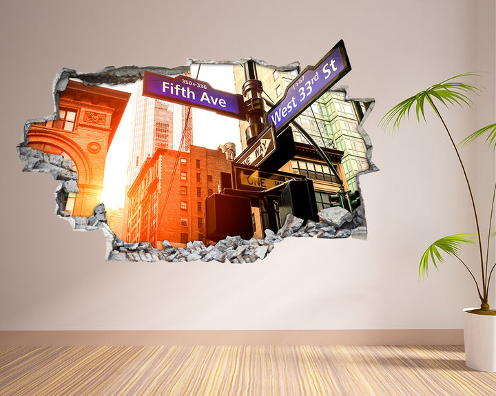 City Street Signs Hall Decal Vinyl Wall Sticker R162