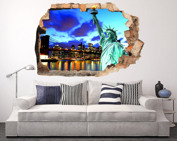 New York Skyline Living Room Decal Vinyl Wall Sticker R164