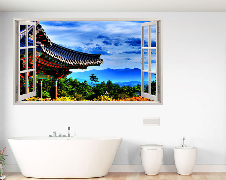 Colourful Scenic Travel Bathroom Decal Vinyl Wall Sticker R179