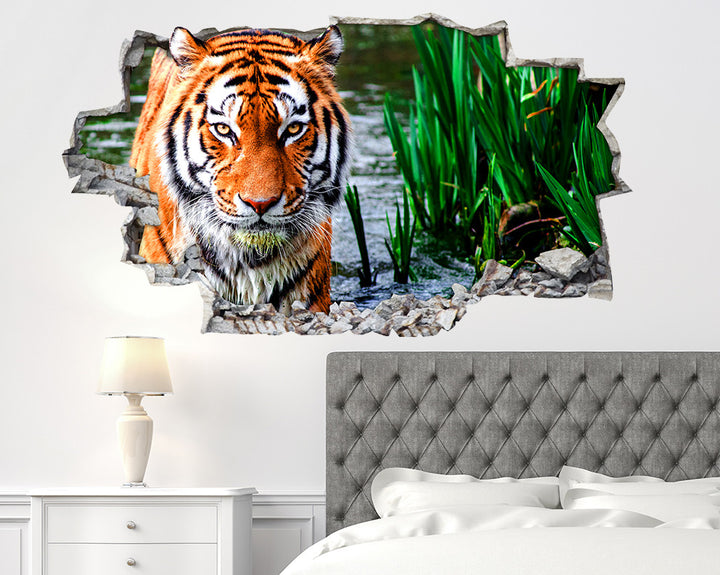 Cool Tiger Animal Bedroom Decal Vinyl Wall Sticker R183