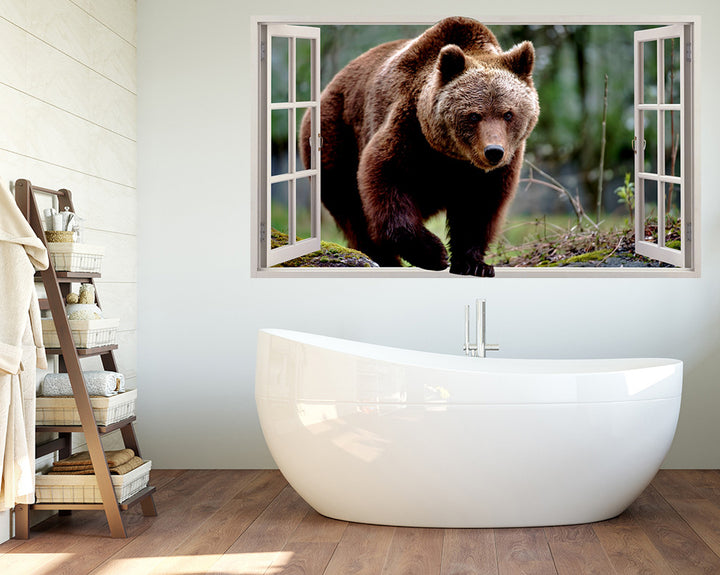 Brown Bear Animal Bathroom Decal Vinyl Wall Sticker R187