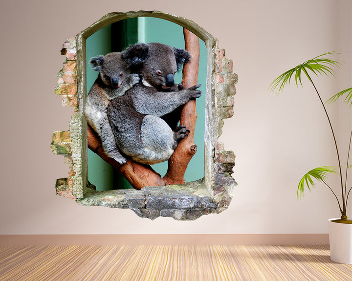 Cute Koala Bear Hall Decal Vinyl Wall Sticker R188