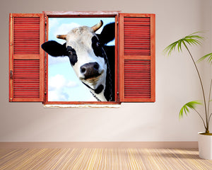 Cow Animal Living Room Decal Vinyl Wall Sticker R192