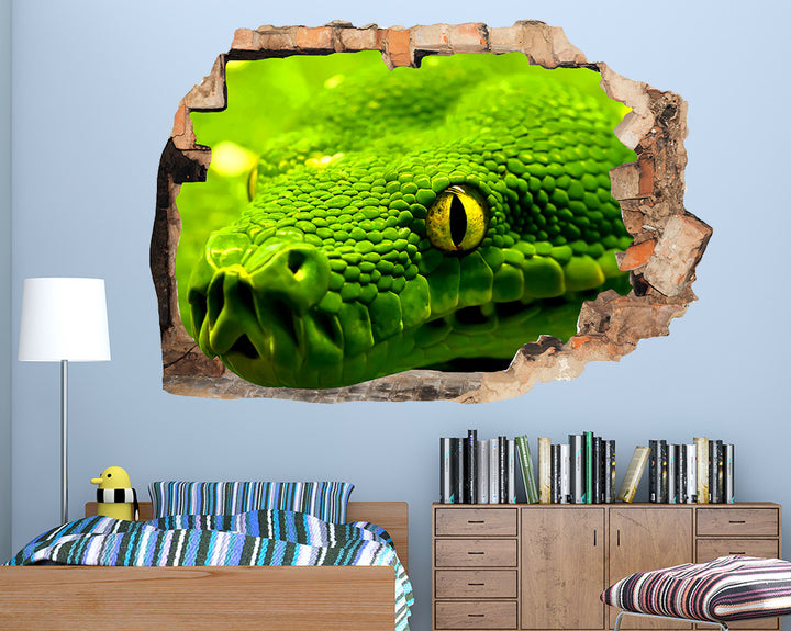 Cool Green Snake Boys Bedroom Decal Vinyl Wall Sticker R195