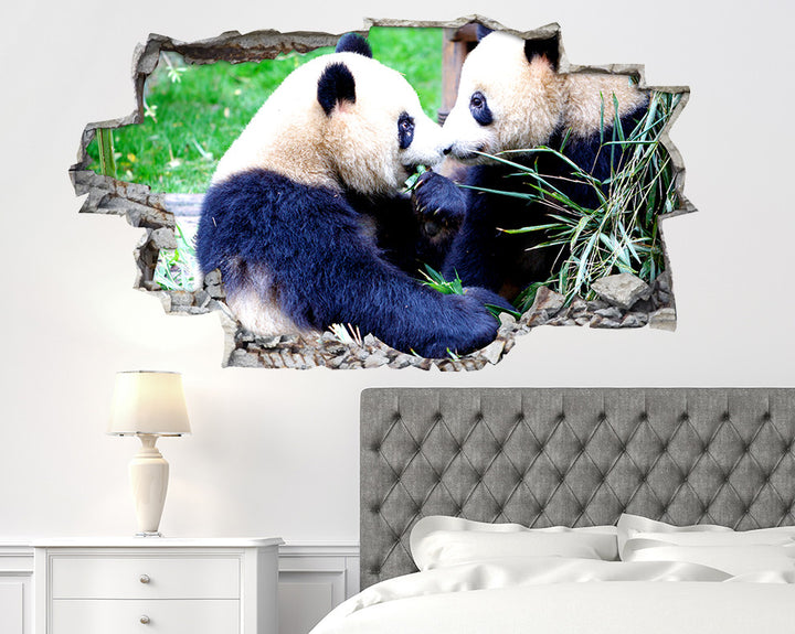 Panda Bear Bedroom Decal Vinyl Wall Sticker R211