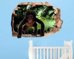 Baby Monkey Jungle Nursery Decal Vinyl Wall Sticker R216