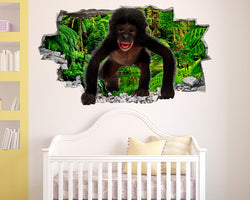 Jungle Cute Monkey Nursery Decal Vinyl Wall Sticker R217