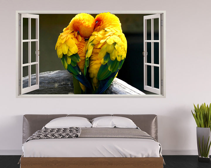 Cute Love Birds Bedroom Decal Vinyl Wall Sticker R224