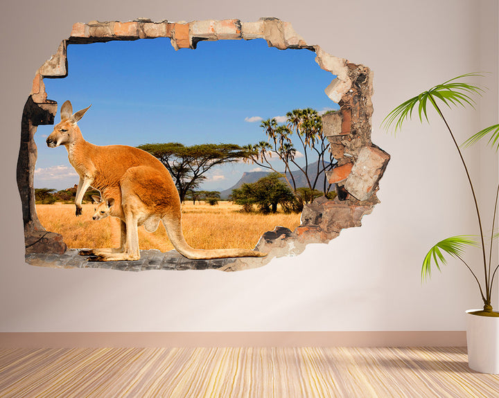 Safari Kangaroo Hall Decal Vinyl Wall Sticker R250