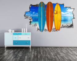 Colourful Surf Boards Sea Living Room Decal Vinyl Wall Sticker R287