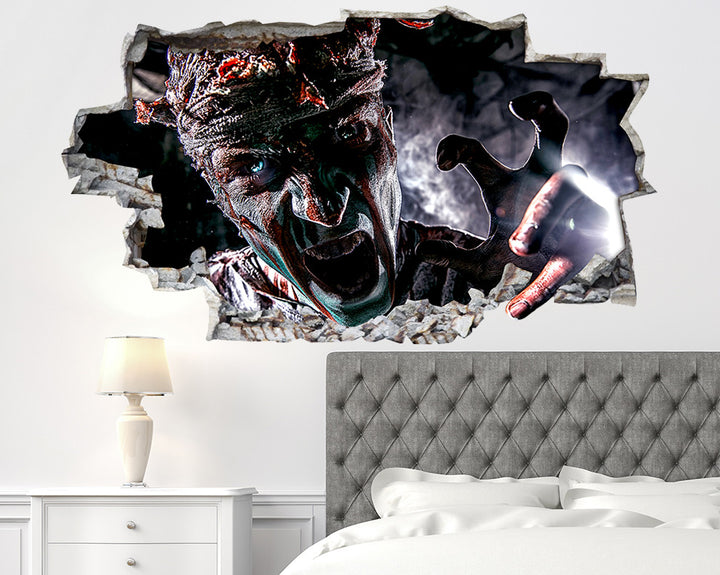 Zombie Scary Face Bedroom Decal Vinyl Wall Sticker R385