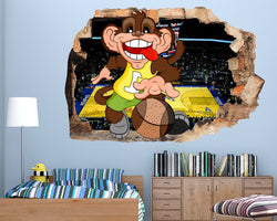 Cool Monkey Basketball Boys Bedroom Decal Vinyl Wall Sticker R432