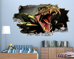 Cool Scary Dinosaur Teeth Boys Bedroom Decal Vinyl Wall Sticker R685