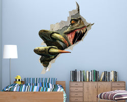 Cool Scary Dinosaur Teeth Boys Bedroom Decal Vinyl Wall Sticker R686