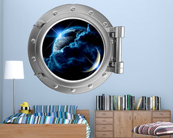 Space World Earth Stars Boys Bedroom Decal Vinyl Wall Sticker R871