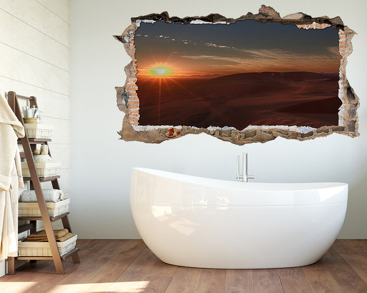 Sun Rays Landscape Bathroom Decal Vinyl Wall Sticker S243