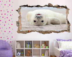 Baby White Seal Girls Bedroom Decal Vinyl Wall Sticker S349