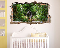 Gorilla Monkey Jungle Nursery Decal Vinyl Wall Sticker S514
