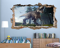 T-Rex Dinosaur Boys Bedroom Decal Vinyl Wall Sticker S613