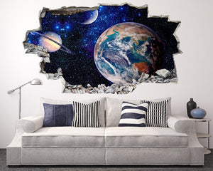 Starry Space Galaxy Living Room Decal Vinyl Wall Sticker T004
