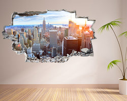 New York Skyscrapers Hall Decal Vinyl Wall Sticker T048