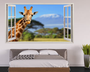 Cool Giraffe Safari Bedroom Decal Vinyl Wall Sticker T082