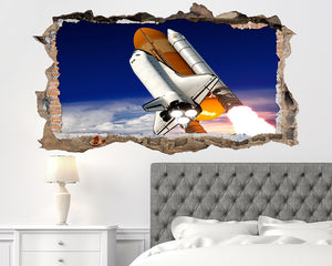 Space Shuttle Rocket Bedroom Decal Vinyl Wall Sticker W148