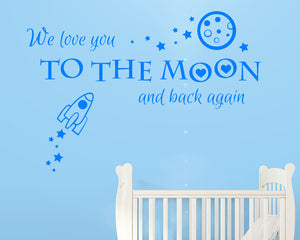 Love You To Moon And Back Decal Vinyl Wall Sticker