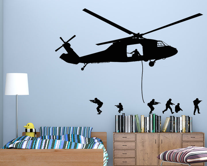 Helicopter Decal Vinyl Wall Sticker