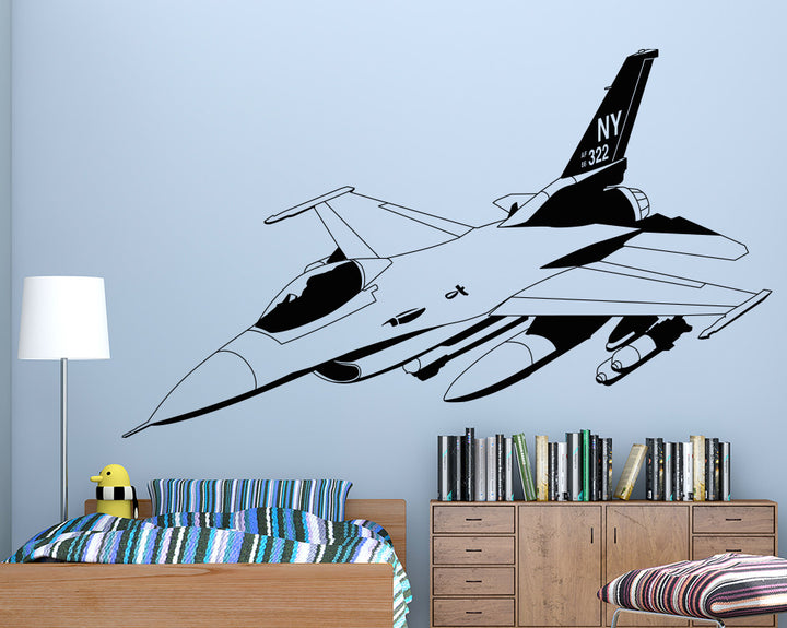 Airplane Decal Vinyl Wall Sticker