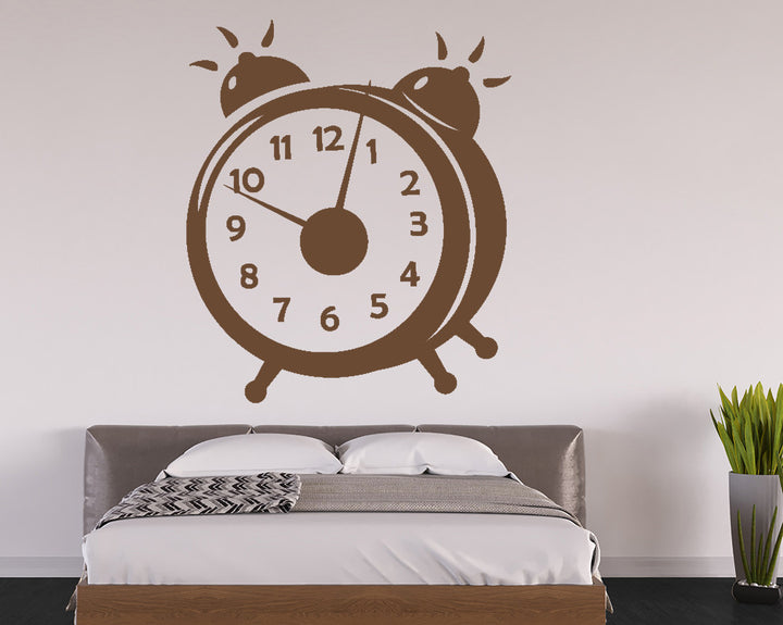 Alarm Clock Decal Vinyl Wall Sticker
