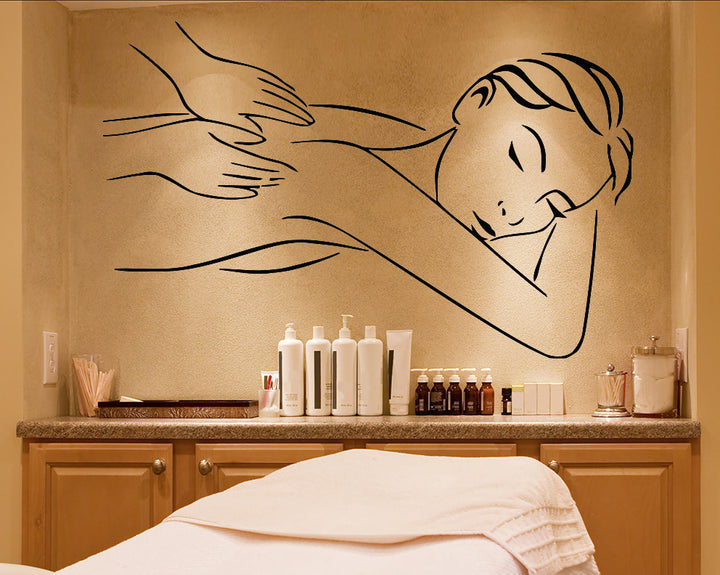 Massage Decal Vinyl Wall Sticker