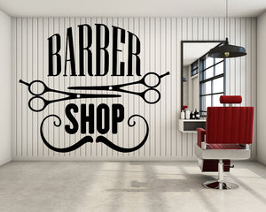 Barber Sign Decal Vinyl Wall Sticker