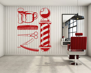 Barber Tool Decal Vinyl Wall Sticker