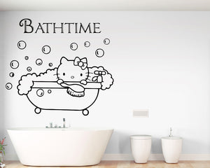 Bathtime Decal Vinyl Wall Sticker