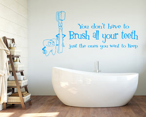 Brushing Teeth Decal Vinyl Wall Sticker