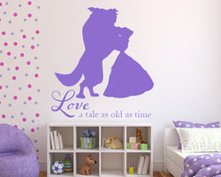 Tale As Old As Time Decal Vinyl Wall Sticker