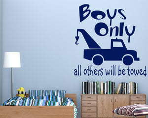 Boys Only Decal Vinyl Wall Sticker