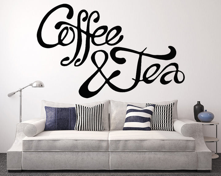 Coffee/Tea Decal Vinyl Wall Sticker