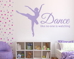 Ballerina Decal Vinyl Wall Sticker