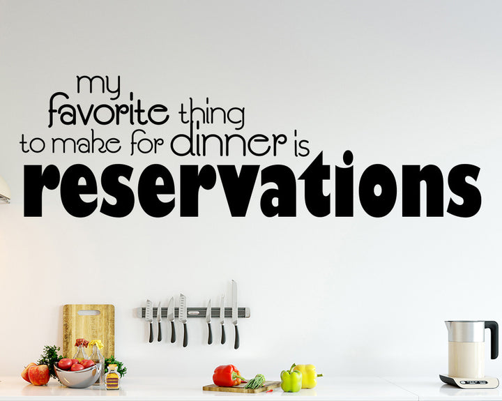 Dinner Decal Vinyl Wall Sticker