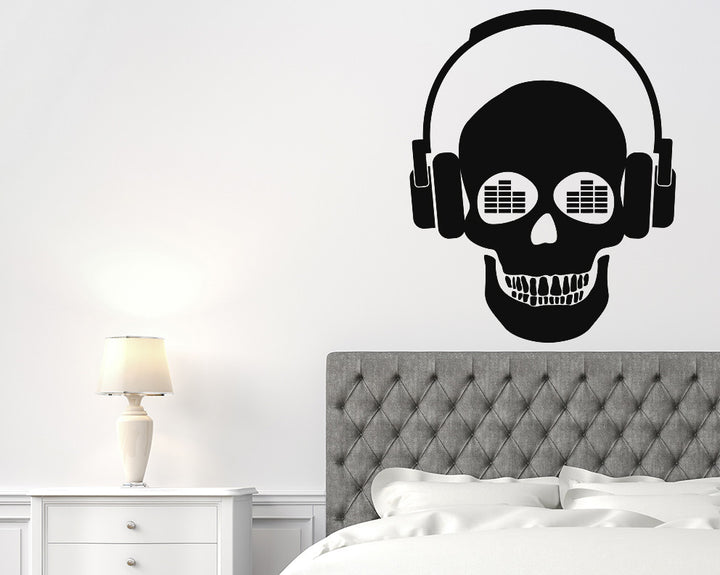 Music Skull Decal Vinyl Wall Sticker