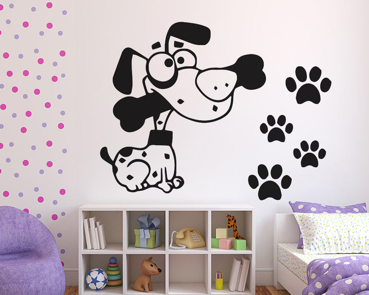 Dog Decal Vinyl Wall Sticker