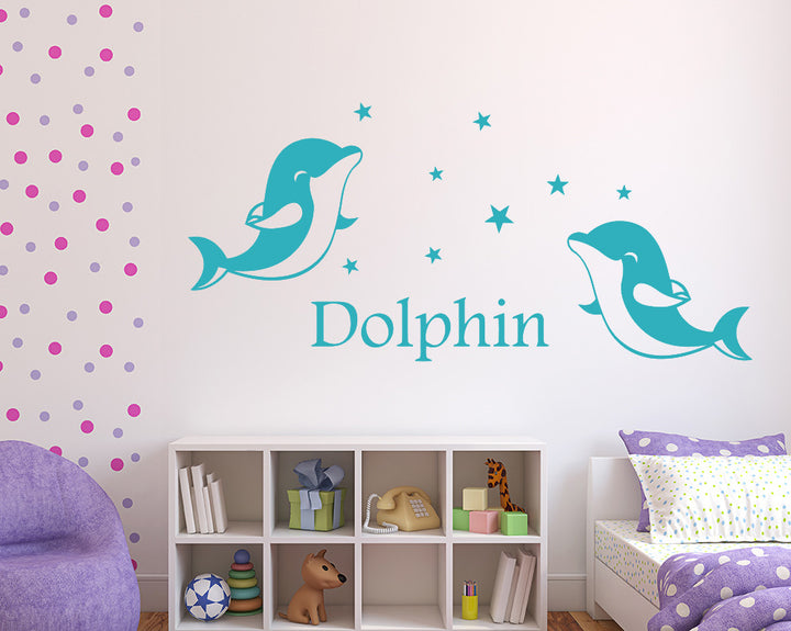 Dolphin Decal Vinyl Wall Sticker