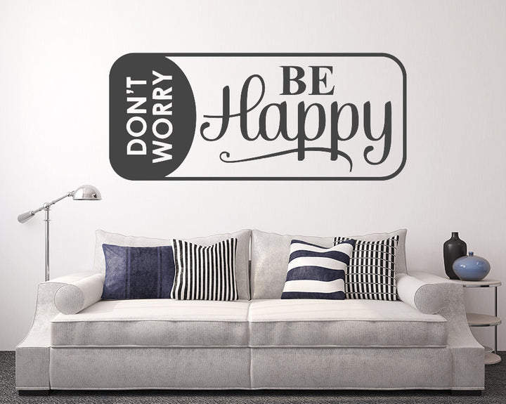 Be Happy Decal Vinyl Wall Sticker