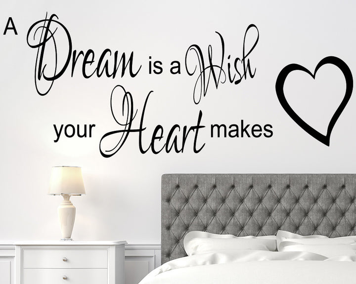 Wish Quote Decal Vinyl Wall Sticker