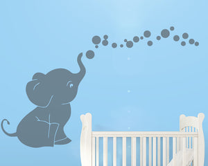 Baby Elephant Decal Vinyl Wall Sticker